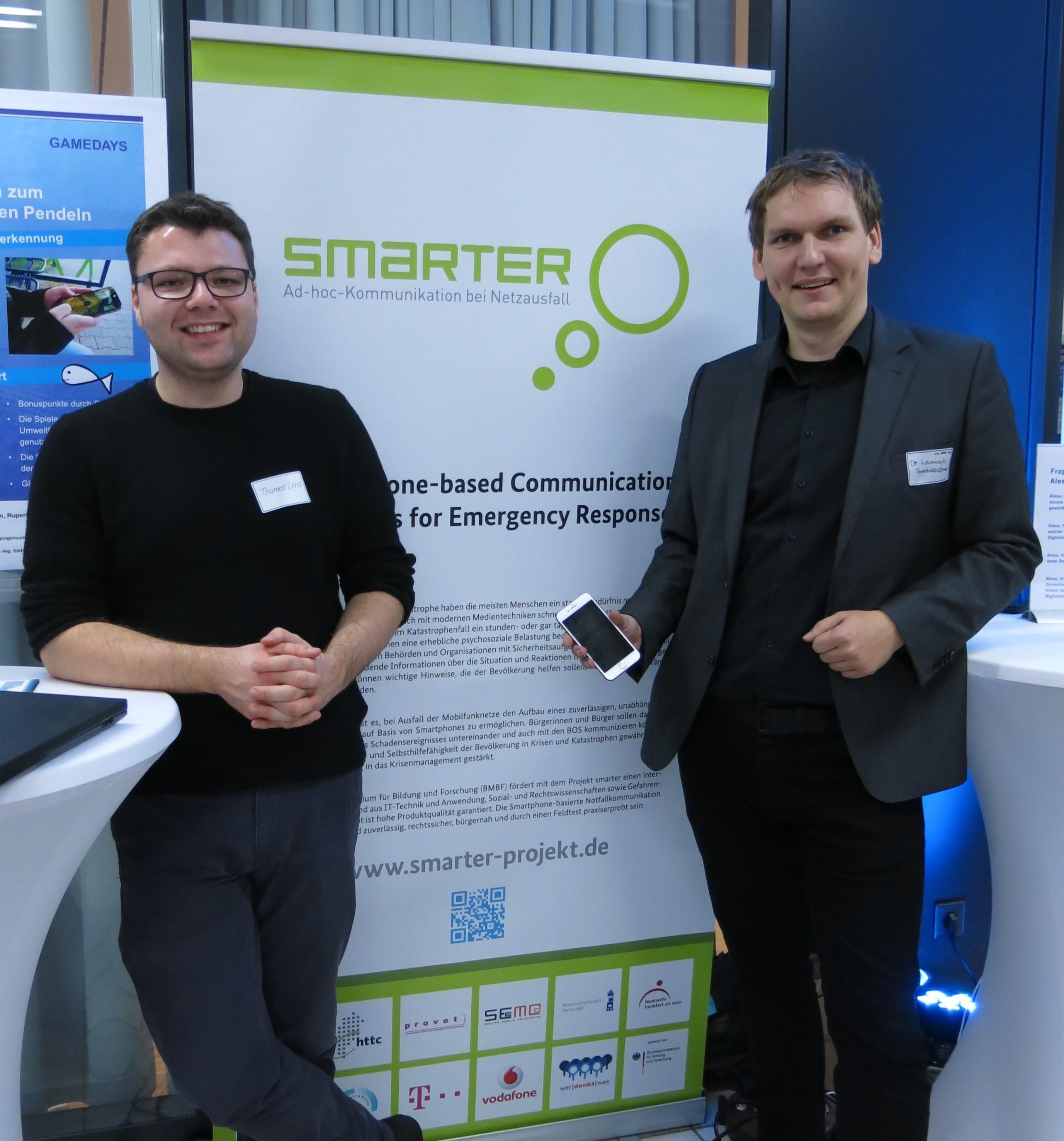 Thomas Lenz und Dr. Robert Lokaiczyk präsentieren smarter